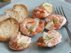toasts et canap駸 toasts aux crevettes recettes de toasts et canap 233 s