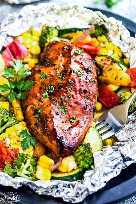 swinging chicken recipe barbecue chicken foil packets baked or grilled on the bbq