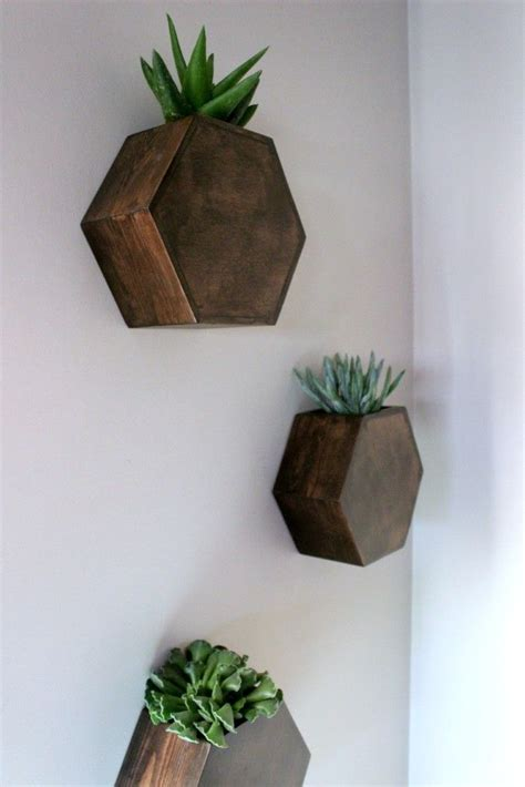 wall planter hexagon wall planter home decorating trends homedit