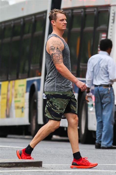 joel kinnaman heads to the gym in nyc tom lorenzo