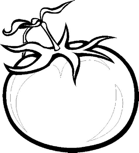 tomato slice coloring page coloring pages