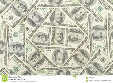 pattern on banknotes money usa