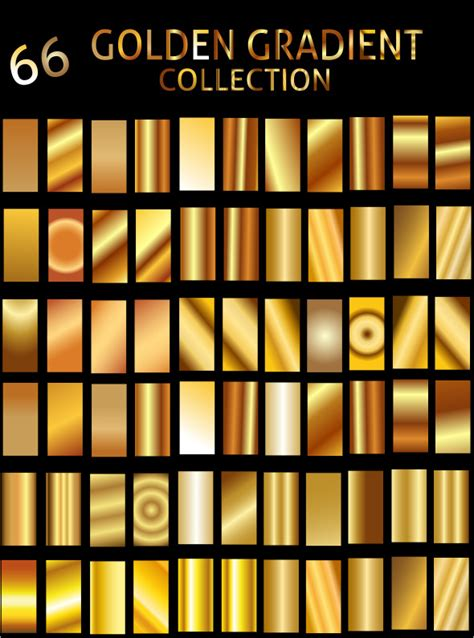 illustrator pattern gold illustrator golden gradient collection by zakaria1854