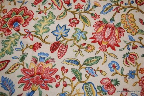 english upholstery jacobean print flower english country jacoby floral heavy