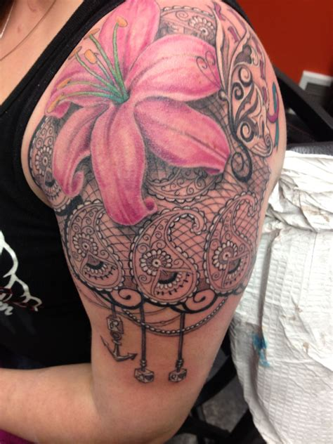 lace flower tattoo lace flower i did the other day tattoos i ve