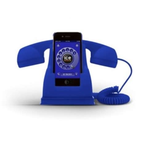 The Retro Phone Handset Gets Even Better With Bluetooth Technology by Phone Retro Handset Blue