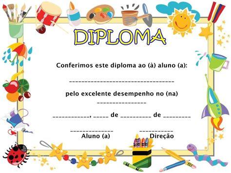 para ni os e infantil diplomas para imprimir gratis para ni os modelos de diplomas para educa 231 227 o infantil