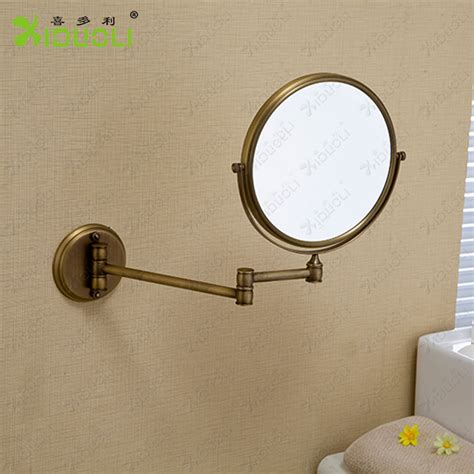 Vintage Cosmetic Mirror 6 Inch Double Faced Bath Mirrors Brass Bathroom Mirrors