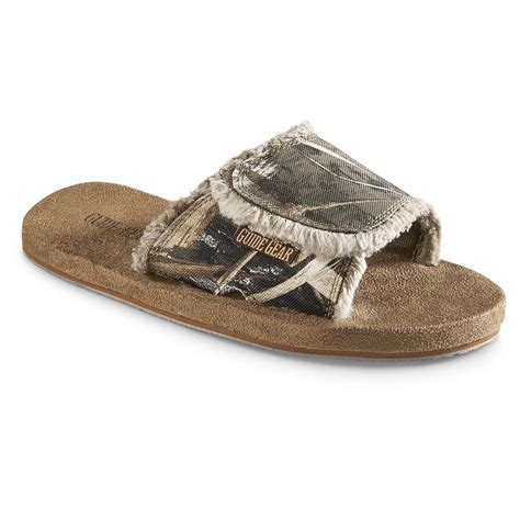 mens slide sandals guide gear s memory foam slide sandals 623628
