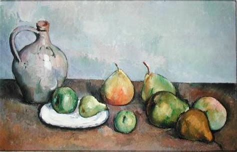 still life with pitcher and fruit paul cézanne as art