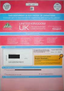 car registration new address registration document v5c logbook in uk