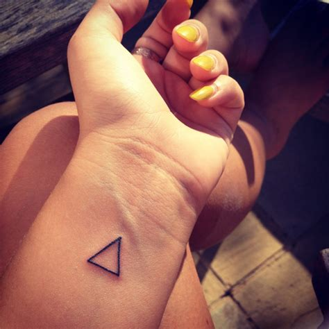 triangle wrist tattoo triangle tattoos designs ideas and meaning tattoos for you