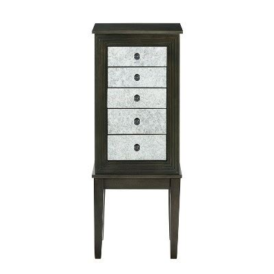 threshold jewelry armoire phoebe jewelry armoire dusk shimmy oak grove