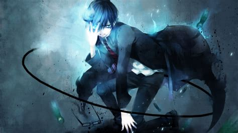 download film anime exorcist rin okumura wallpaper and background 1366x768 id 640548