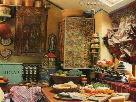 artistic antique decor for a classic touch kitchen bohemian kitchen 025 bohemian kitchen with