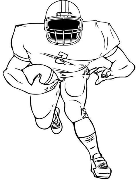 printable coloring page football player football player coloring pages free printable football