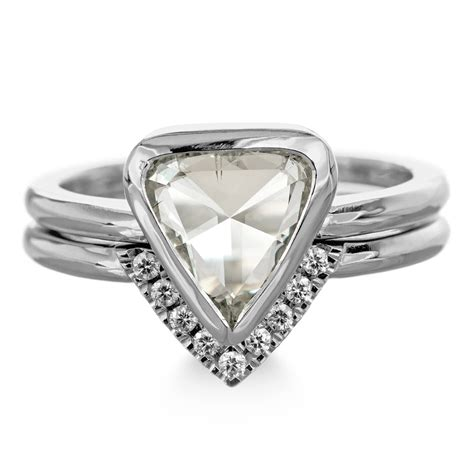 1 58 carat triangle engagement ring