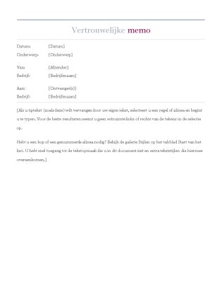 memo layout nederlands vertrouwelijke memo office templates