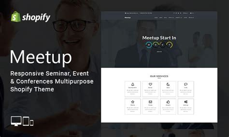 shopify event themes meetup responsive seminar event conferences