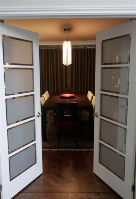 french doors interior frosted glass  ideal material