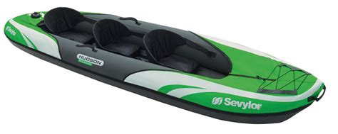 yukon inflatable boat sevylor hudson premium inflatable 3 person kayak