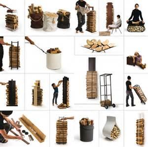 rangement design pour bois de chauffage