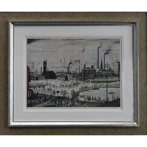 fine art floor ls an industrial town by l s lowry signed limited edition
