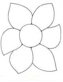 Flower Template For Preschool by 9 Best Images Of Flower Template Preschool
