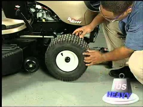 repair  lawn tractor tire video   sears partsdirect youtube