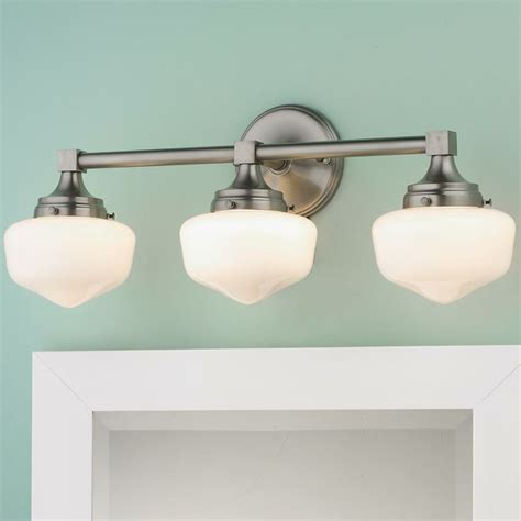 Schoolhouse Bathroom Light Schoolhouse 3 Light Bath Light