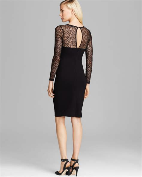 Vianna Lace Dress Black connection dress vienna lace jersey in black lyst