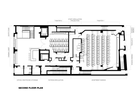 Single Floor Home Plans by Gallery Of Nitehawk Cinema And Apartments Caliper Studio