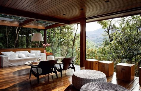 Luxurious Summer Veranda Design With Glass Walls And
