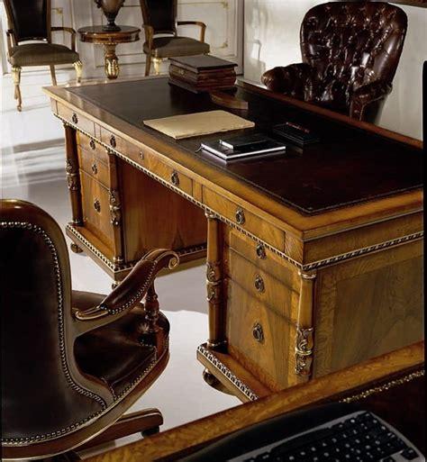 scrivanie di lusso scrivania classica di lusso in radica con 9 cassetti