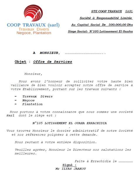 Modeles Lettre Offre De Service Fiscalit 233 Marocaine Modele Offre Service