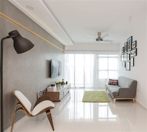 home interior design singapore hdb punggol walk scandinavian hdb clean white stylish