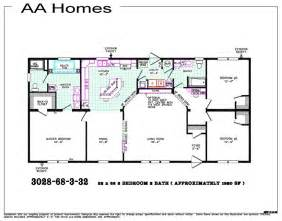 Home Floor 5 Bedroom 3 Bath Mobile Home Floor Plans Html Best Home