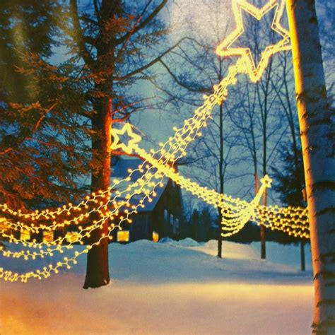shooting star christmas lights hanging lights ls