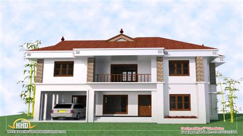 house design kerala youtube four bedroom plan bath house plans home floor story 4 2