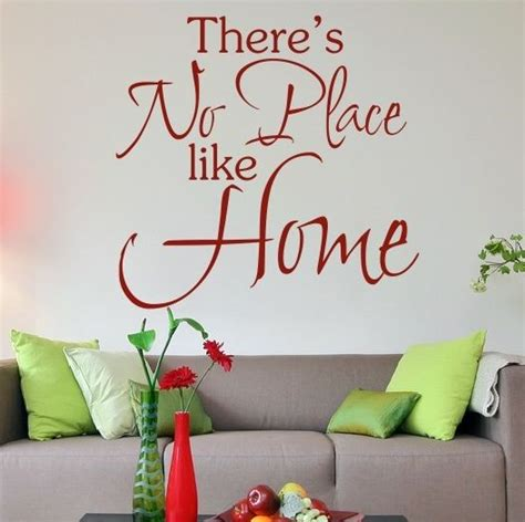 Places To Buy Wall Decor by There S No Place Like Home Wall Quote Wall Quote Sticker