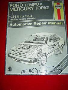 service repair manual free download 1984 mercury topaz regenerative braking ford tempo mercury topaz 1984 1994 gasoline engine