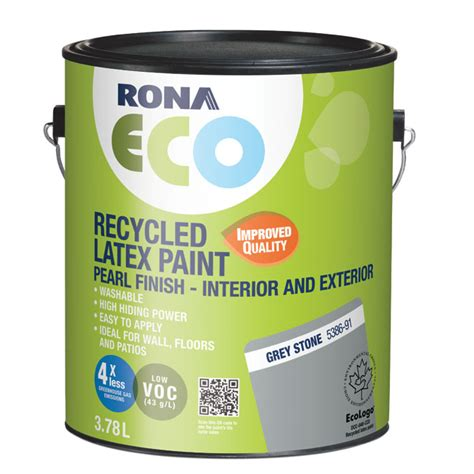 recycled int ext paint grey rona
