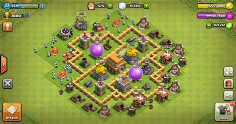 layout kuat coc th 6 thropy base clash of clans th 5 terkuat design base clash