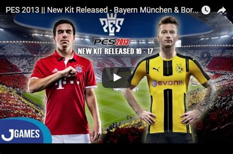 Terbaru Jersey Bola Borussia Dortmund Home Official 17 18 pes 2013 bayern and dortmund 2016 2017 kits by jefries6 pes patch