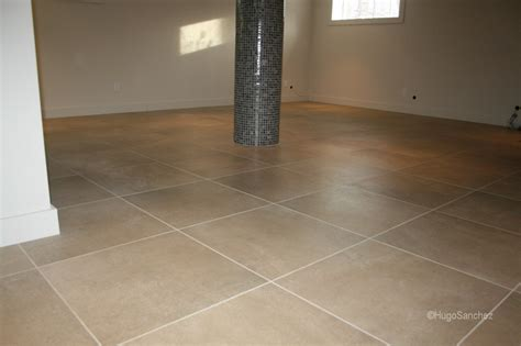 Basement Floor Tiles Basement Installation C 233 Ramiques Hugo Inc