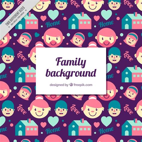 family background family background with decorative items vector free