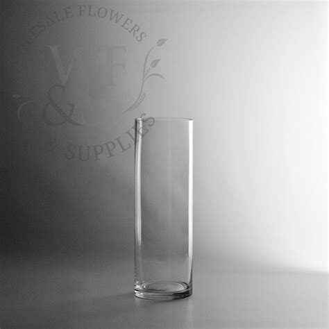 12 x 4 glass cylinder vase wholesale flowers and supplies