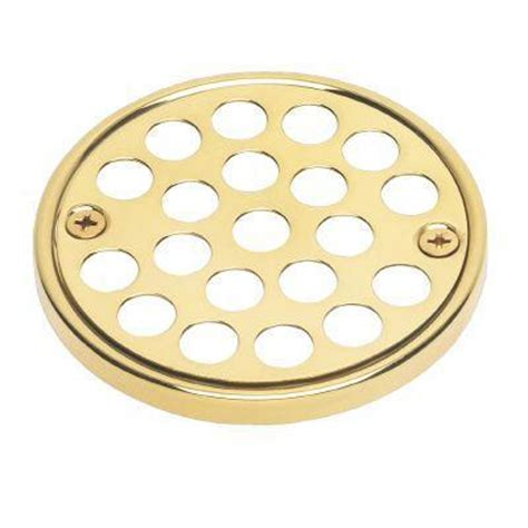 oatey polished brass shower drain crown ring set 42010 at