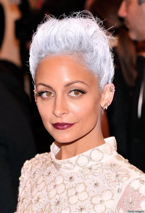 grey hair pics nicole richie met gala 2013 grey hair that s eerily