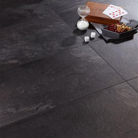 harmonia black slate effect laminate flooring 2 05 m 178 pack